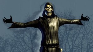 The unlockable Grim Reaper costume.